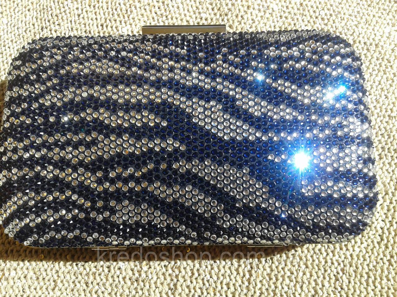 9e51c8b6590b Клатч вечерний стильный с камнями сине-белый.(Tурция): продажа, цена ...