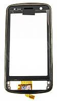 Тачскрин (сенсор) Nokia C6-01 with frame (с рамкой) h/c, black (черный)