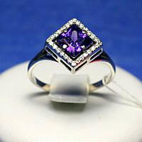 Серебряное кольцо с фиолетовым камнем 11096фиол, фото 1