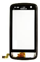Тачскрин (сенсор) Nokia C6-01 with frame (с рамкой) ORIG, black (черный)