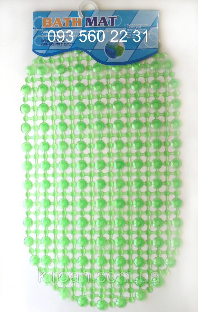 """Силиконовые коврики для ванной на присосках """"Точки"""" зеленый"""