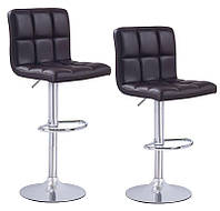 Барный стул AS-150-2 с мягким сиденьем черный кожзам 42х42х97-119 mm
