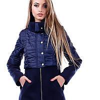 Женское пальто кашемир с плащевкой