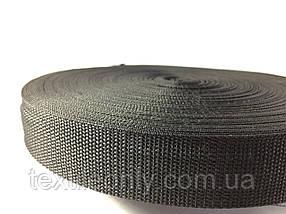 Тасьма сумочная колір чорний 30 мм