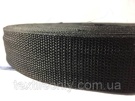 Тесьма сумочная цвет черный 30 мм , фото 2