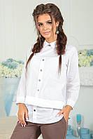 Комбинированная Рубашка Берта белая