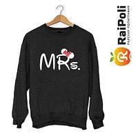 Свитшот с надписью Mr & Mrs