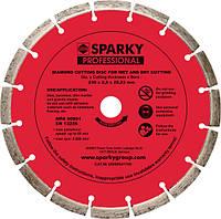 Алмазный диск с лазерной напайкой Sparky 115х22x22,23мм
