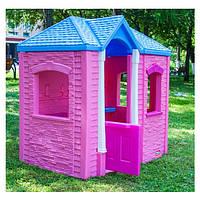 Детский игровой домик Cambridge Little Tikes - США - с реалистичной имитацией кирпичного покрытия и черепицей