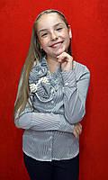Блузка школьная на девочку 7-12 Kas kids Полоска
