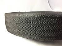 Тесьма  сумочная ёлка цвет черный 50 мм