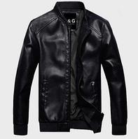 Мужская кожаная куртка. Модель 61124