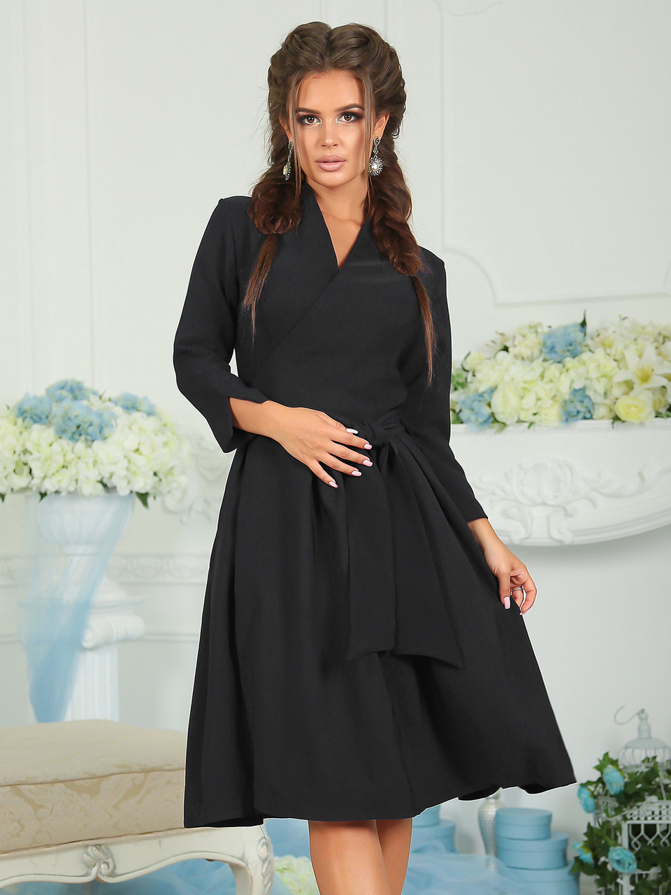 Черное демисезонное Платье Алла