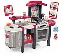 Интерактивная кухня Smoby Тефаль супер шеф большая с эффектом кипенияи и аксессуарами красная (311304)