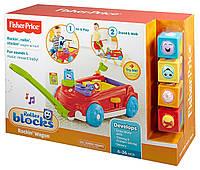 Fisher-Price Машинка каталка с кубиками Roller Blocks Rockin' Wagon