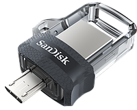 Flash Drive Sandisk USB Ultra Dual 32 Gb, OTG, USB 3.0 Black