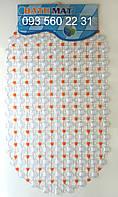 """Силиконовые коврики для ванной на присосках """"Точки"""" оранжевый SkT11"""