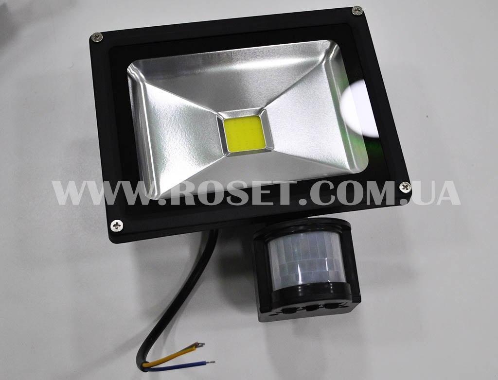 Світлодіодний зовнішній прожектор з датчиком руху - PIR LED Flood Light 20W