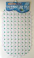 """Силиконовые коврики для ванной на присосках """"Точки"""" зеленый SkT12"""