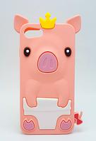 Детский розовый чехол в виде поросенка для iphone 6/6s