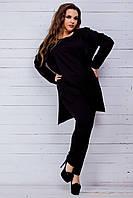Женский костюм с коттоновыми лампасами (42-60)8155