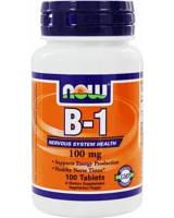 B-1 100 mg 100 таб NOW