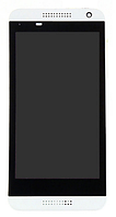 Дисплей (экран) для HTC 610 Desire + с сенсором (тачскрином) и рамкой белый Оригинал
