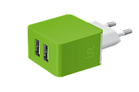 Зарядное устройство Trust URBAN Dual Smart Wall Charger LIME