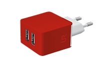 Зарядное устройство Trust URBAN Dual Smart Wall Charger Red