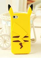Силиконовый чехол Покемон 3D для IPhone 6/6S (Желтый)