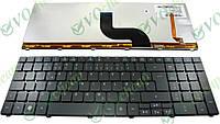 Клавиатура для ноутбука eMachines E440 rus, black сподсветкой клавиш