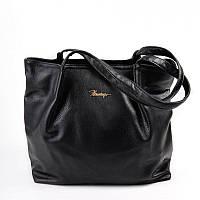 Женская сумка из кожзаменителя черная удобная стильная М81-801
