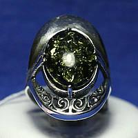 Крупное кольцо из серебра с кабошоном Мелодия 1011