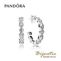 Серьги Pandora ОБОЛЬЩЕНИЕ #290724CZ серебро 925 Пандора оригинал