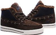 Зимние кеды Nike High Top Fur Brown от магазина tehnolyuks.prom.ua 099-4196944