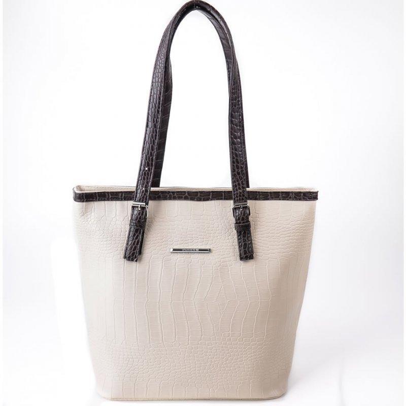 a0abe925ebfc Женская сумка из кожзаменителя бежевого цвета стильная летняя М66-12 ...