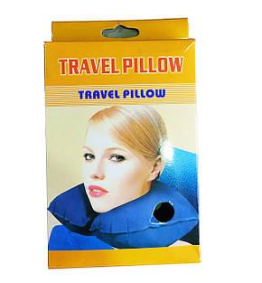 Надувная подушка для путешествий на шею Надувная дорожная подушка под шею Travel Pillow WSD, фото 2