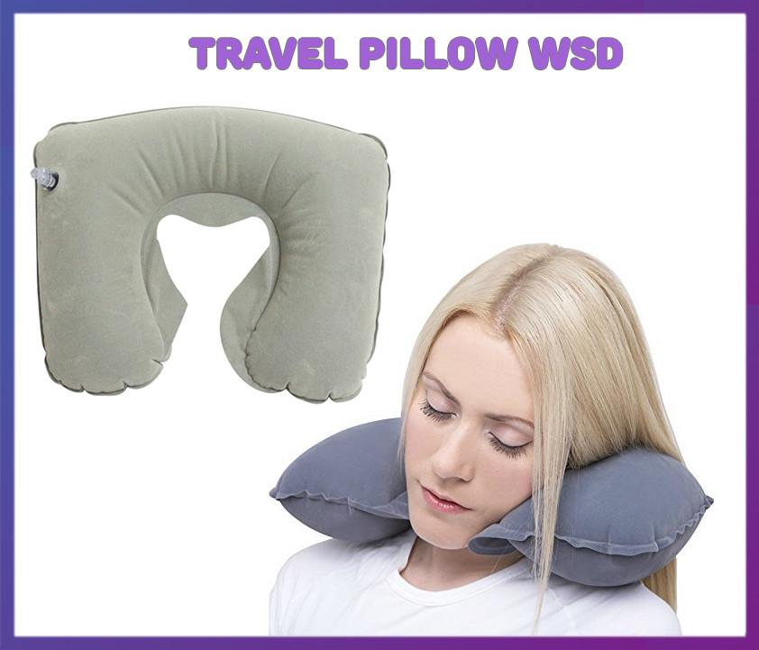 Надувная подушка для путешествий на шею Надувная дорожная подушка под шею Travel Pillow WSD