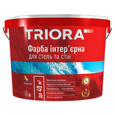 Фарба інтер'єрна для стель та стін ТМ TRIORA 1л