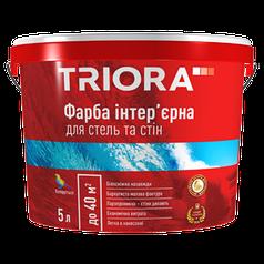 Фарба інтер'єрна для стель та стін ТМ TRIORA .5 л