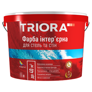 Фарба інтер'єрна для стель та стін ТМ TRIORA .10 л