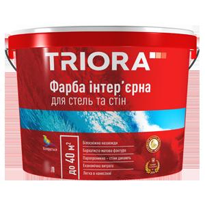 Фарба інтер'єрна для стель та стін ТМ TRIORA .10 л, фото 2