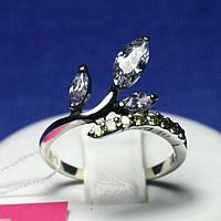 Серебряное кольцо с цирконием Ветвь 1036сж