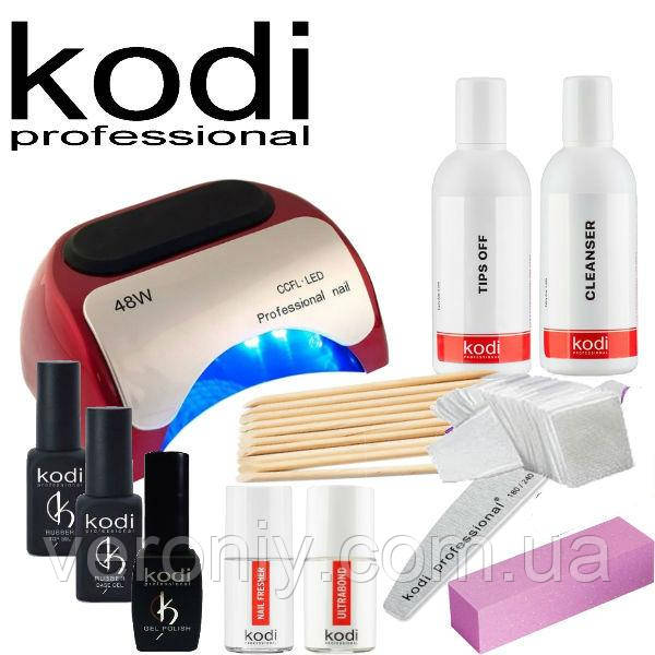 Стартовый набор для покрытия ногтей гель лаком Kodi Professional № 1