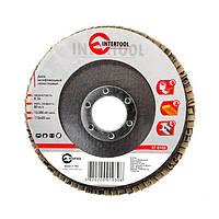 Диск шлифовальный лепестковый 115x22 мм, зерно K36 INTERTOOL BT-0103 Intertool  на VSETOOLS.COM.UA