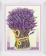 Набор для вышивания нитками Букет лаванды