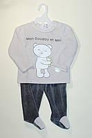 Пижама теплая серая 12м