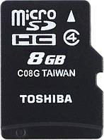 Карта памяти Toshiba microSDHC 8 GB Class 4 M102 + SD adapter