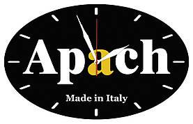 """Часы настенные с логотипом стеклянные  """"Апач"""""""
