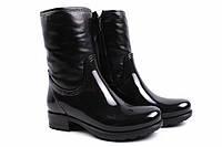 Ботинки женские MIDA натуральная кожа, резина, цвет черный (каблук, Украина)